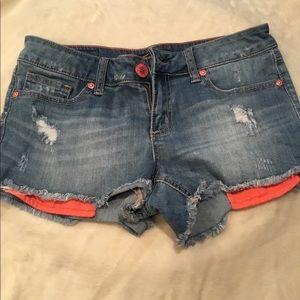 Jean Shorts-distressed